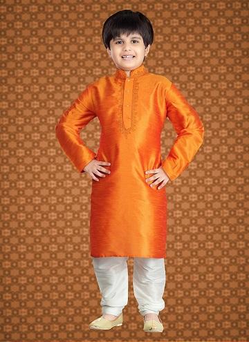 Simple Orange Kurta