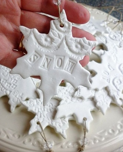Snowflakes Plaster of Paris Crafts