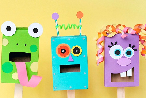 Sock Pocket Puppet Crafts