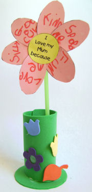 Special Message Flower Craft