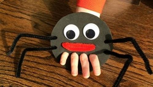 Spider Finger Puppet Craft