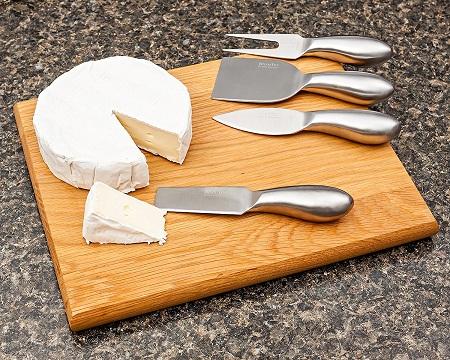 Steel Cheese Board Set