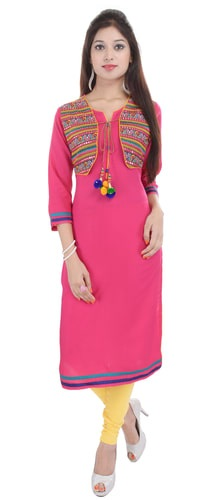 Straight Kurti with a Short Shrug