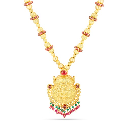 Temple Design Necklace in 15 Gms