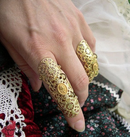 Thin Carving Full Finger Ring