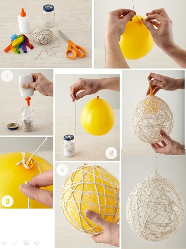 Thread Ball Home Decor Craft Ideas