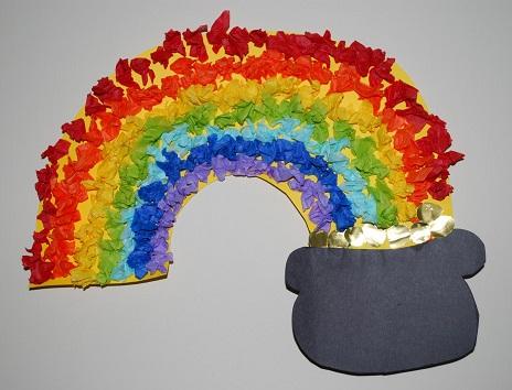 Tissue Paper Rainbow Crafts