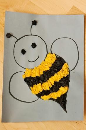 Tissue Paper Bee Craft