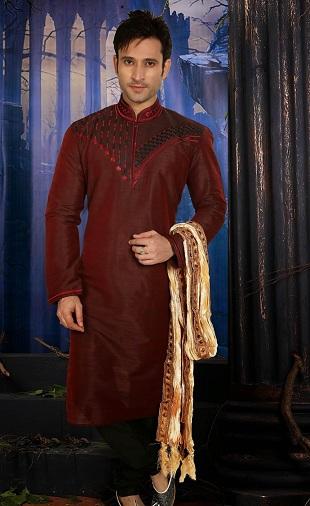 Trendy Maroon Kurta for Diwali