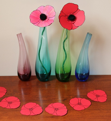 Vase Remembrance Day Craft