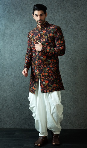 Velvet Patiala Kurta Wedding Kurta