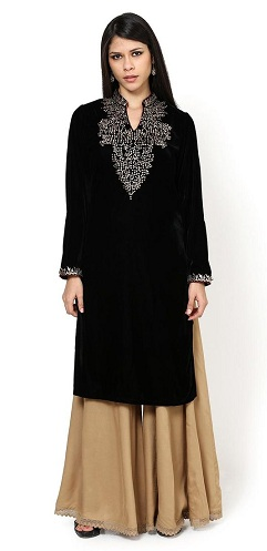 Velvet Kurti for Winter