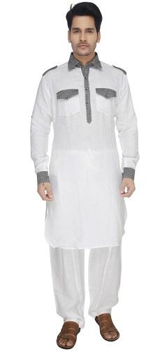 White & Gray Pathani