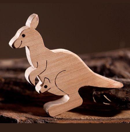 Wooden Kangaroo Crafts