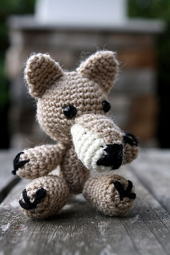 Woollen Crochet Wolf Crafts