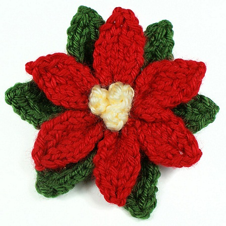 Woollen Knitted Poinsettia Crafts
