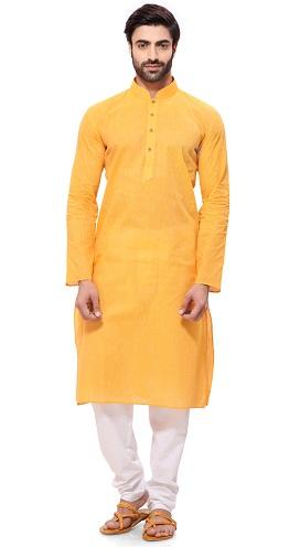 Yellow Kurtis for Men