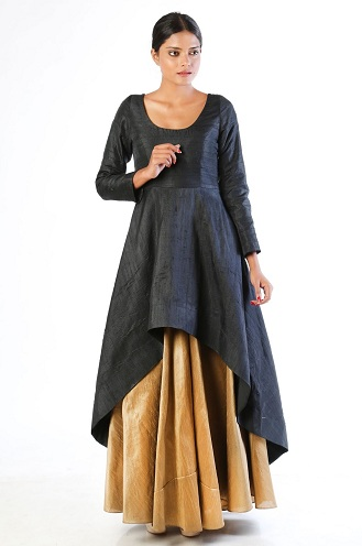 Zigzag Kurti with Long Skirt