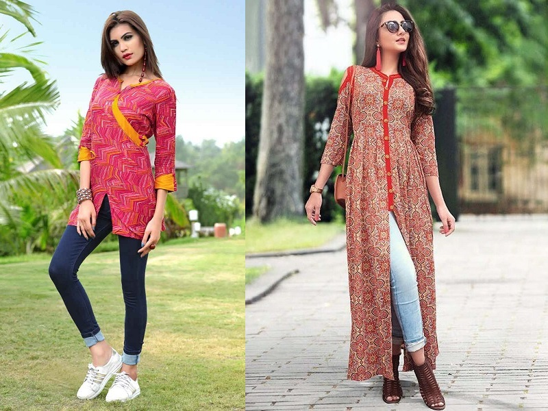 15 Beautiful And Stylish Kurtis For Jeans In India Styles At Life