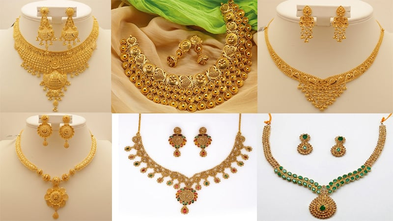 50 Grams Gold Necklace Designs Latest Collection For Wedding