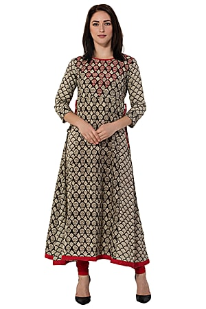884d34ef83 The A line style is the Indian latest kurti design that suits most women.  The flared kurti makes you look regal. You can have tassels at the sides or  even ...