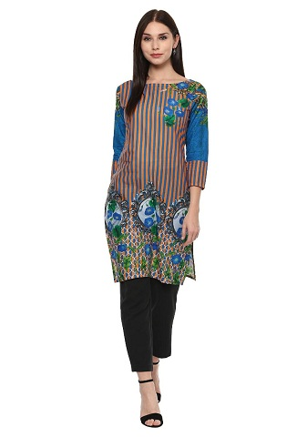 Ahalyaa Cotton Pakistani Style Kurta For Women