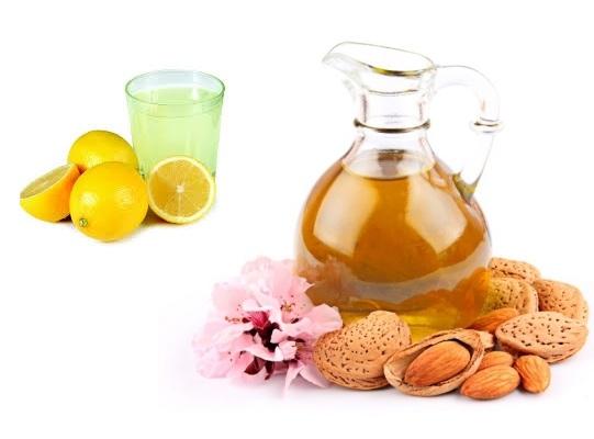 almond oil and lemon for dandruff
