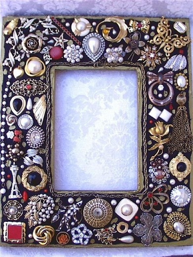 Artificial Jewelry Photo Frame Craft
