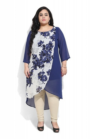 7d4d7444ce9 15 Modern Plus Size Kurtis For 2018 In India | Styles At Life