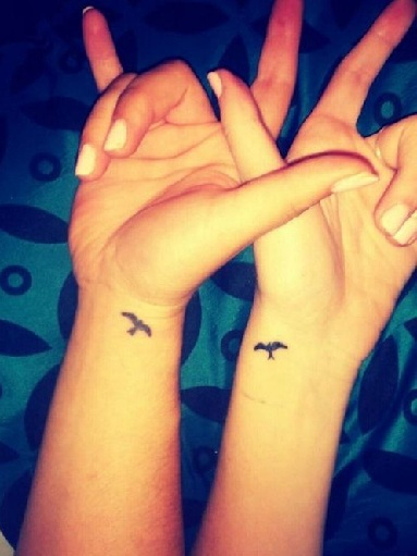 Best Friend Tattoos on Wrist
