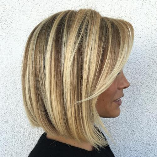One Length Bob with Long Bangs