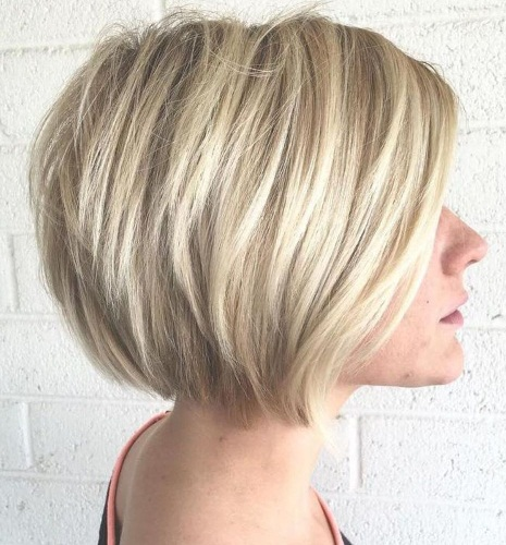 Bright Blonde Bob Cut