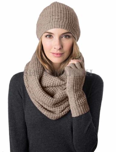 Brown Woollen Cashmere Scarf for Women