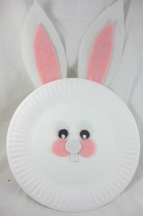 Bunny Face Valentine Craft