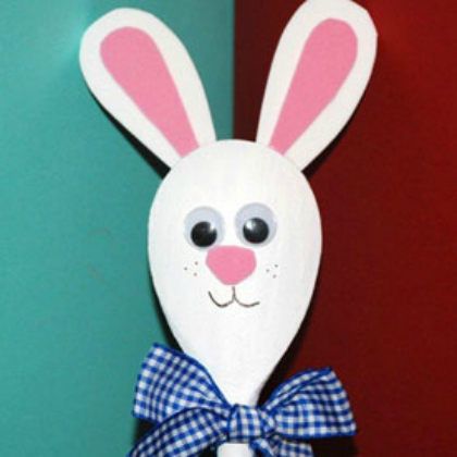 Bunny Wooden Spoon Craft