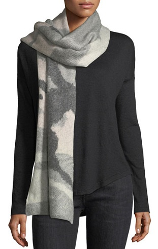 Camouflage Wool Scarf
