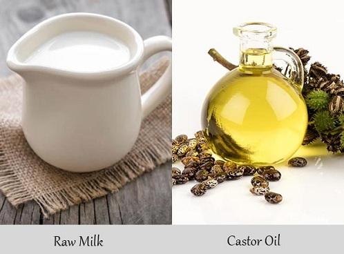 Castor Oil with Raw Milk