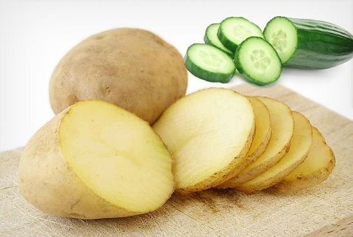 Coconut Oil, Potato and Cucumber