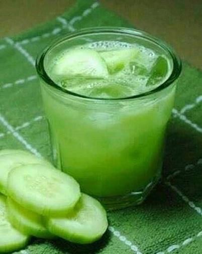Cucumber Slices and Cucumber Juice