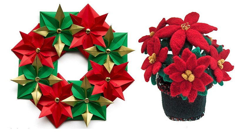 How to make an origami poinsettia flower: page 1 | 450x800