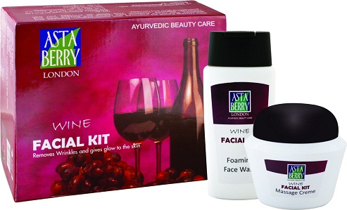 Facial Kit with Wine As Essence for Whitening