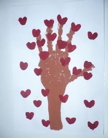 Flowering Tree Valentine Craft