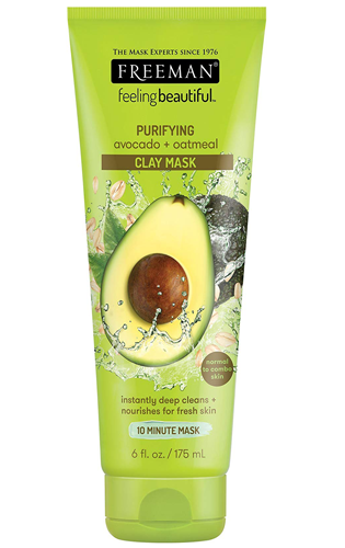 Freemen Clay Mask with Oatmeal and Avocado