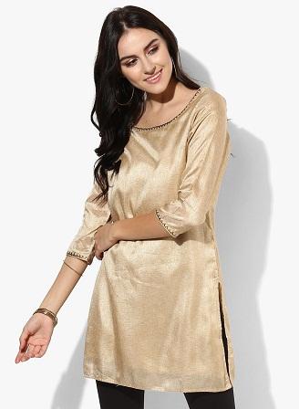 Golden Embellished Kurti