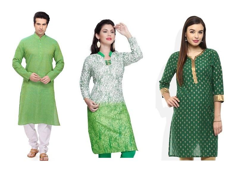 Green Colour Kurta Designs