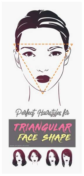 hairstyles for triangular face shape