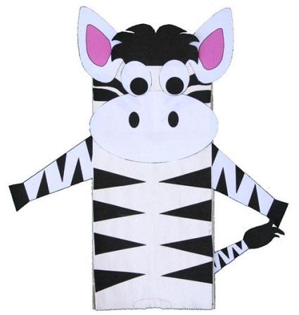 Hand Bag Zebra Craft