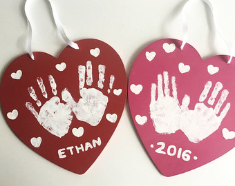 Hand Prints Valentine Craft