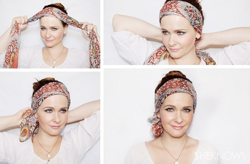 Head Scarf Covering Fore Head