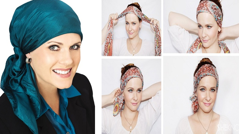How to Tie a Headscarf With Step By Step